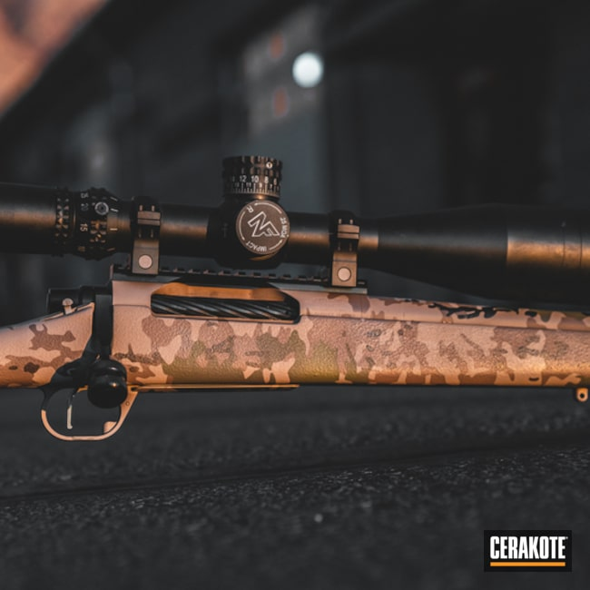 Bolt Action Rifle with an Arid MultiCam Finish