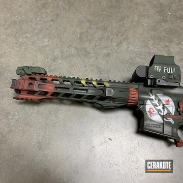 Cerakoted Cerakoted Mandalorian Themed Ar Pistol