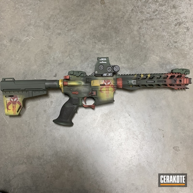 Cerakoted Mandalorian Themed AR Pistol