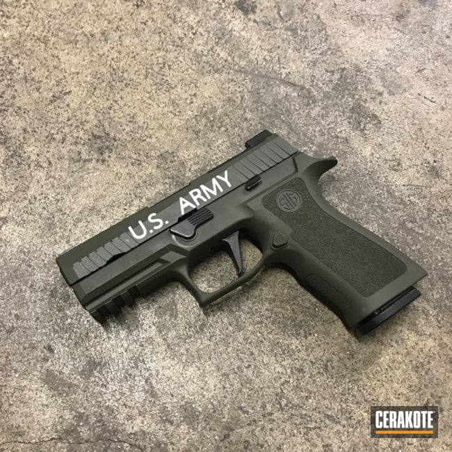 Sig Sauer Handgun Cerakoted with H-297 and H-240