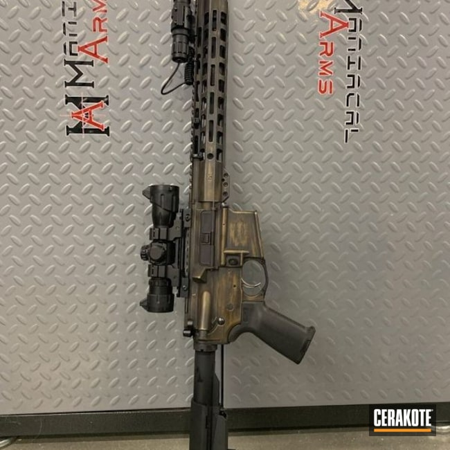 Distressed and Battleworn AR-15 Rifle