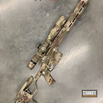 Cerakoted Sig Sauer Bolt Action Rifle In A Custom Multicam Finish