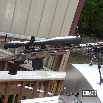 Cerakoted Bolt Action Rifle With A Custom Cerakote Camo Finish