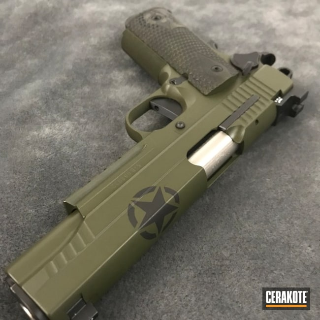US Army Themed Handgun using Cerakote H-146 and H-232