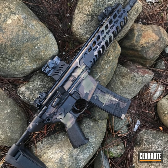 Custom Cerakote Camo Finish on this Sig Sauer MCX Rifle