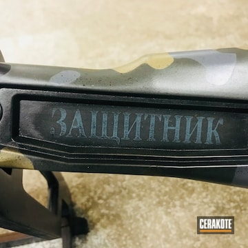 Cerakoted Ak-47 Rifle With A Custom Camo Cerakote Finish