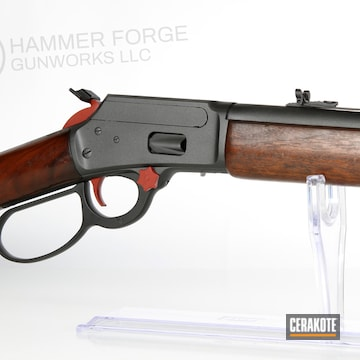 Cerakoted Cerakoted Lever Action Marlin Rifle Using H-146, H-221 And H-237