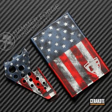 Cerakoted Money Clip / Card Holder In A Cerakote American Flag