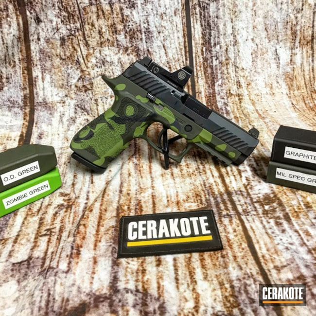 "Thumbnail image for project ""Cerakoted Sig Sauer P320 with a Custom MultiCam Finish"""
