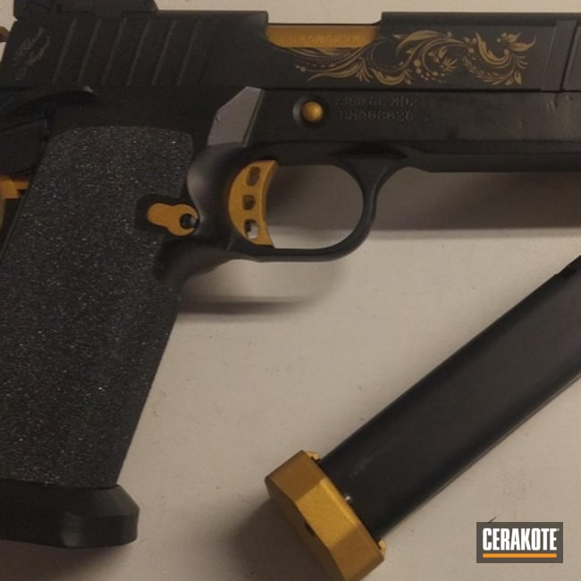 Two Toned 1911 Handgun using Cerakote H-146 and H-122