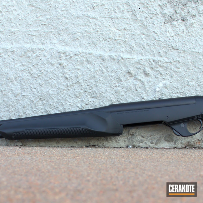 Big version of the 3rd project picture. Graphite Black H-146Q, Benelli, Shotgun, SHOT, Gun Coatings