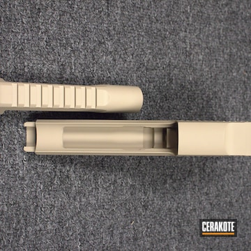 Cerakoted Desert Eagle Handgun With A Cerakote H-199 Desert Sand Finish