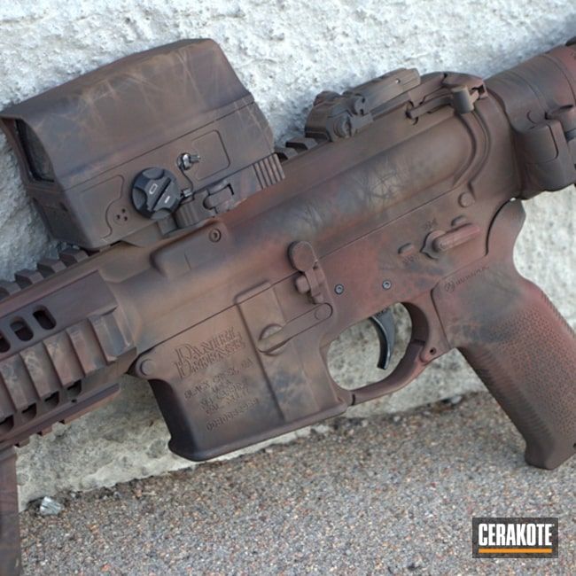 "Thumbnail image for project ""Daniel Defense AR-15 with a Custom Cerakote Camo Finish"""