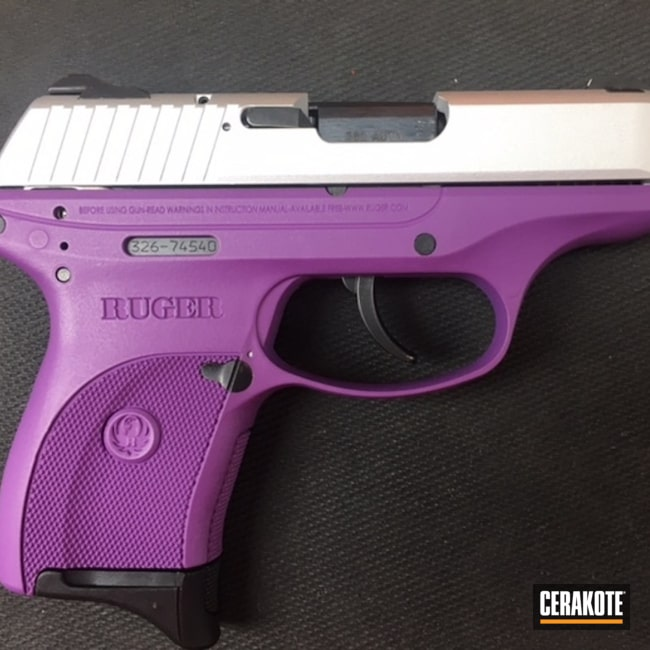 Custom Mixed Purple Finish on this Ruger SR Handgun