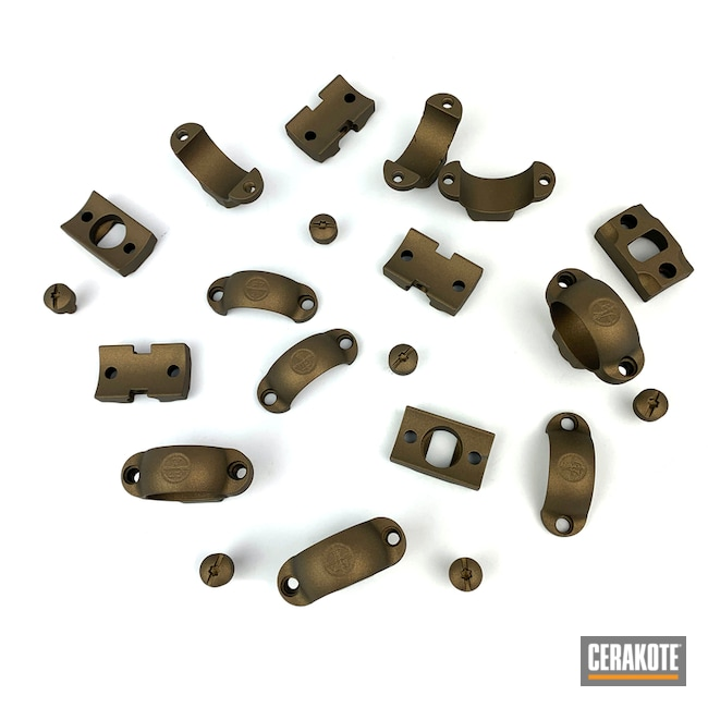 Cerakoted: S.H.O.T,Scope Mount,Burnt Bronze H-148,Gun Coatings,Scope Rings
