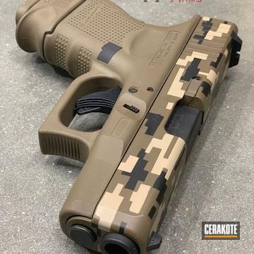 Cerakoted Glock 40 With A Cerakote H-146, H-199 And H-261 Digital Camo Finish