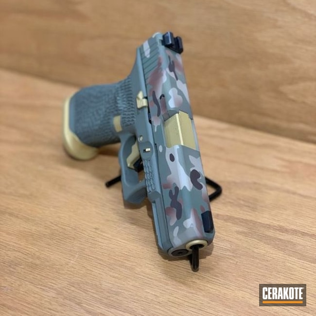 "Thumbnail image for project ""Glock 19 Handgun with a Custom Cerakote MultiCam Finish"""