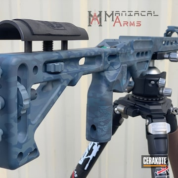Cerakoted Mpa Rifle Chassis With A Cerakote Urban Multicam Finish