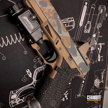 Cerakoted Glock 45 Handgun With A Cerakote H-148, H-234 And H-214 Multicam Finish