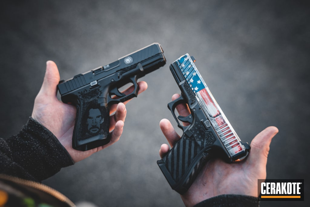 American Flag And John Wick Themed Glock Handguns By Web User Cerakote