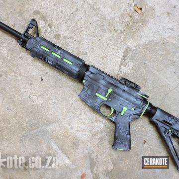Cerakoted Zombie Slayer Themed S&w Ar-15 Rifle