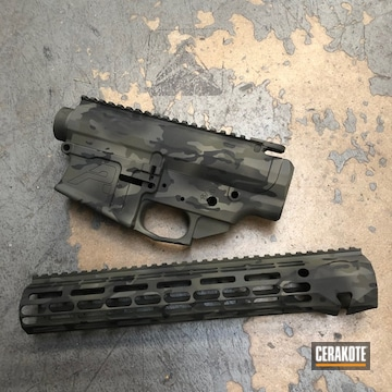 Cerakoted Aero Precision Upper / Lower / Handguard With A Cerakote Multicam Finish