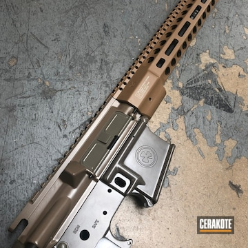 Cerakoted Rifle With Fifty Shades Of Fde
