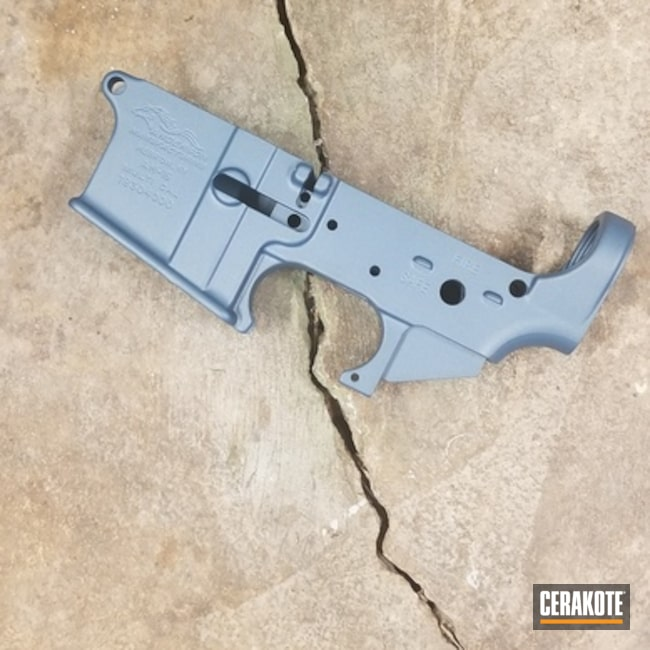 AR-15 Lower Cerakoted in H-185 Blue Titanium