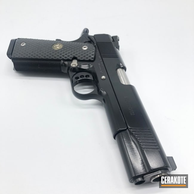 Wilson Combat 1911 Handgun Cerakoted with E-100 Blackout