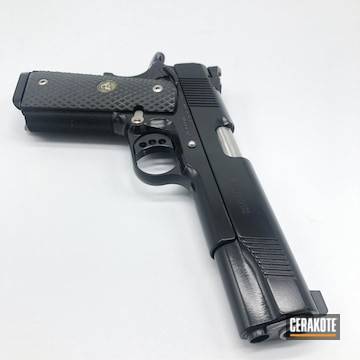 Cerakoted Wilson Combat 1911 Handgun Cerakoted With E-100 Blackout