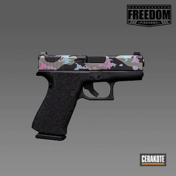 Cerakoted Glock 34 With A Cerakote Camo Slide Finish