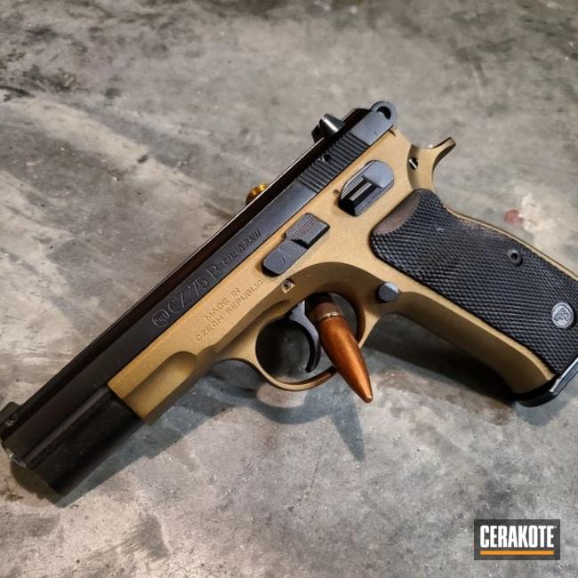 Cerakoted: S.H.O.T,Tactical Pistol,Graphite Black H-146,Two Tone,Burnt Bronze H-148,CZ 75,Pistol,Gun Coatings,Daily Carry,40cal