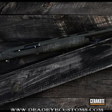 Cerakoted Custom Cerakote Camo Finish On This Shotgun