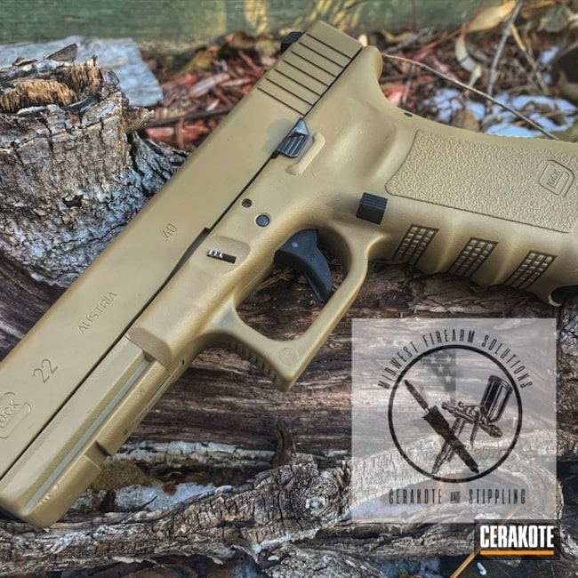 Glock 22 Handgun using Cerakote H-265 and H-126