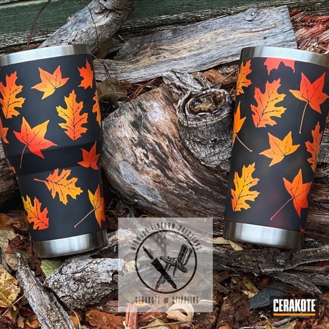 "Thumbnail image for project ""Custom Tumblers with a Cerakote Fall Camo Finish"""