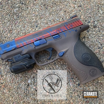 Cerakoted We The People Themed Smith & Wesson M&p Shield Handgun