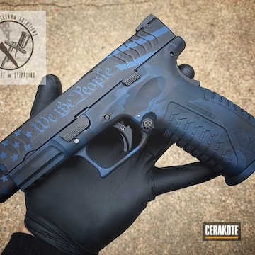 Cerakoted Cerakoted Springfield Xd Handgun Using H-146 And H-171