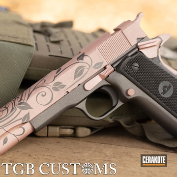 Cerakoted Scroll Pattern Cerakote Finish Using H-237 And H-327