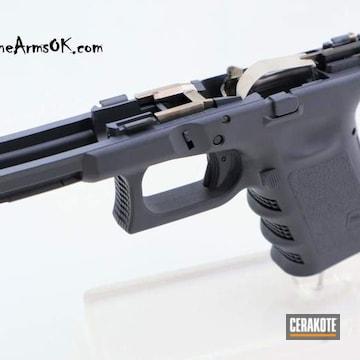 Cerakoted Glock Frame Cerakoted With H-130 Combat Grey