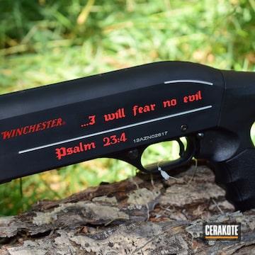 Cerakoted Pump-action Winchester Shotgun Cerakoted With H-167