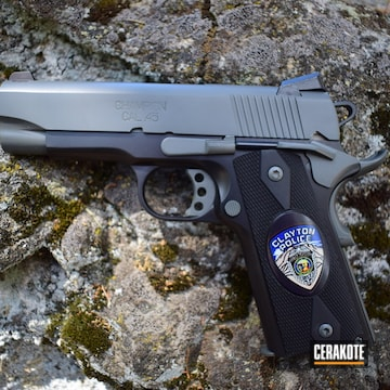 Cerakoted Two Toned Springfield 1911 Handgun With Cerakote E-160 And E-100
