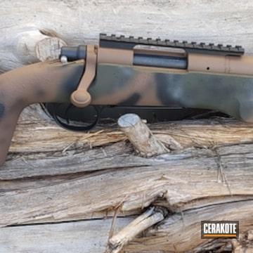 Cerakoted Custom Cerakote Multicam On This Remington 700 Bolt Action Rifle