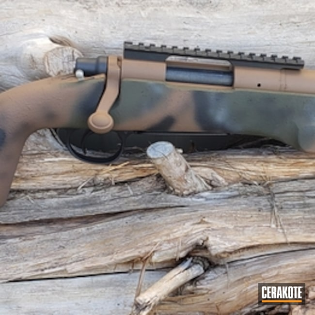 Cerakoted Custom Cerakote Multicam On This Remington 700 Bolt Action Rifle