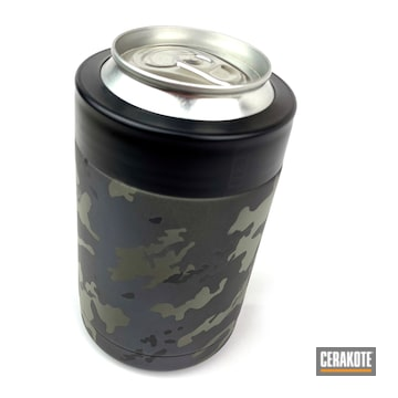 Cerakoted Yeti Can Cup With A Black Multicam Finish
