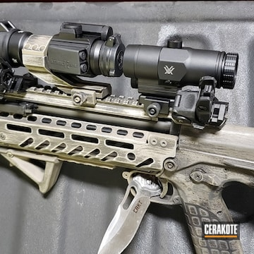 Cerakoted Distressed Kel-tec Rdb Bullpup Rifle Using H-146 And Hir-265