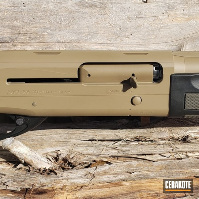 "Thumbnail image for project ""Beretta Shotgun Cerakoted with H-235 Coyote Tan"""