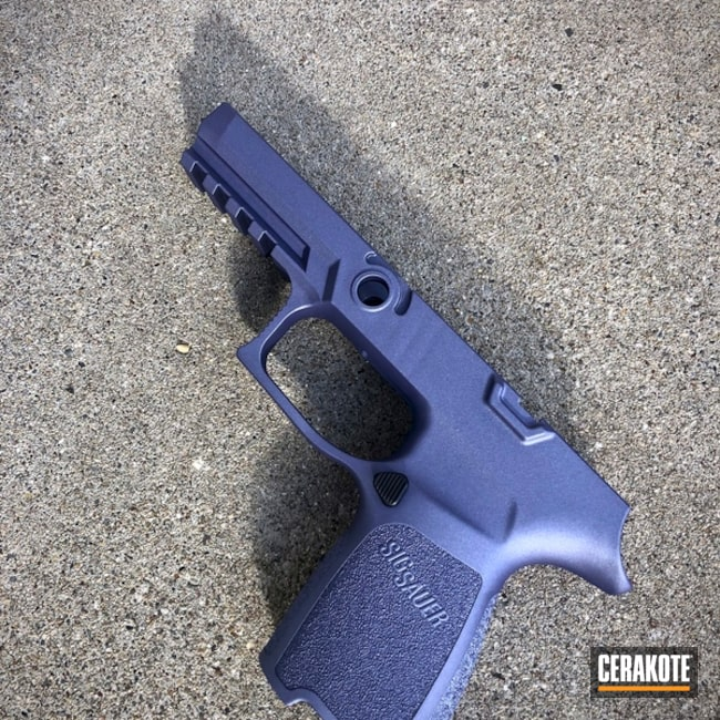 "Thumbnail image for project ""Sig Sauer Frame Cerakoted in H-314 Crushed Orchid"""