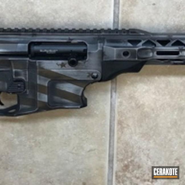 Cerakoted: SHOT,Shotgun,VR80,Distressed American Flag,Rock Island Armory,Burnt Bronze H-148,Satin Aluminum H-151,Armor Black H-190,Tactical Rifle,American Flag,Gun Coatings