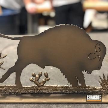Cerakoted Metal Art Sculpture Finished With H-148 And C-192