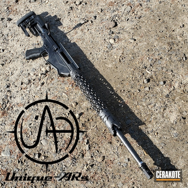 "Thumbnail image for project ""Custom Rifle Cerakoted with H-190 Armor Black"""